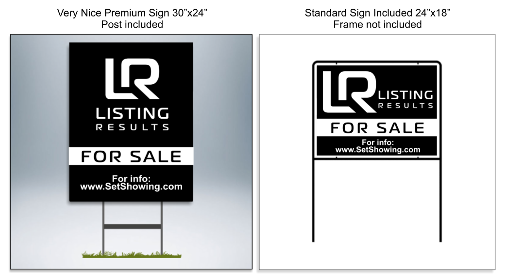 Listing Results Signs